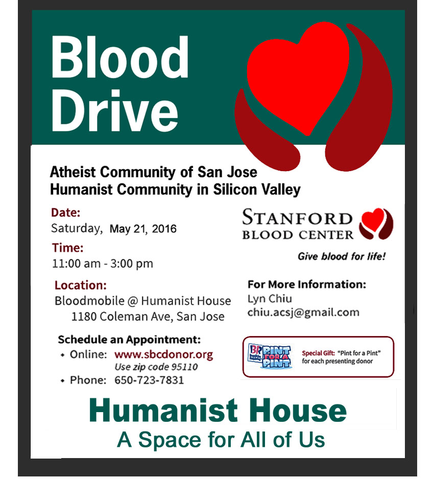 Blood Drive May 21, 2016